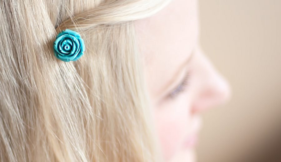 A Flower For Your Hair: Simple Rosette Hair Pins