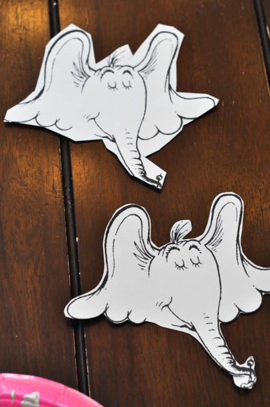 Horton Cut-Outs - Dr. Seuss Craft  - Suburble.com (1 of 1)