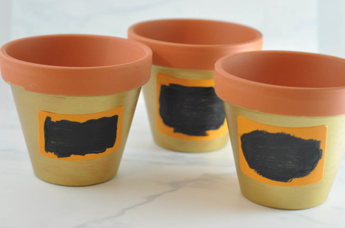 Painted Terracotta Pots with Chalkboard Stencils - Suburble.com (1 of 1)