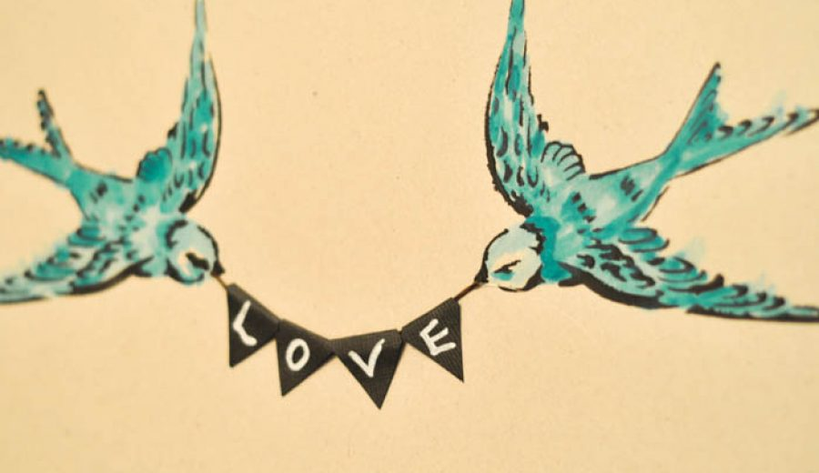 All You Need Is Love: Swallow Wall Art