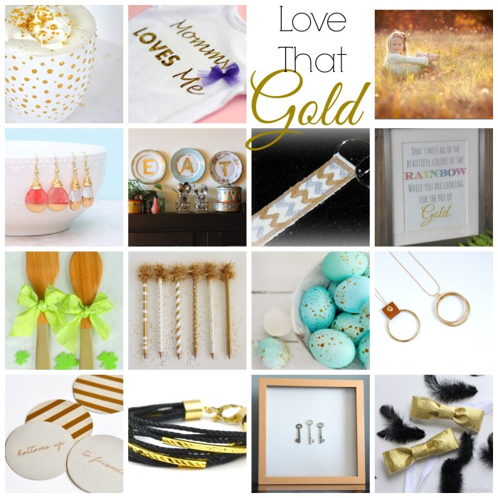 Love That Gold- 15 Golden Projects to Inspire