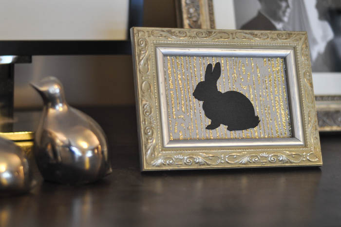 Mod Podge Rocks Wood Grain Stencil with rabbit silhouette - Suburble.com (1 of 1)