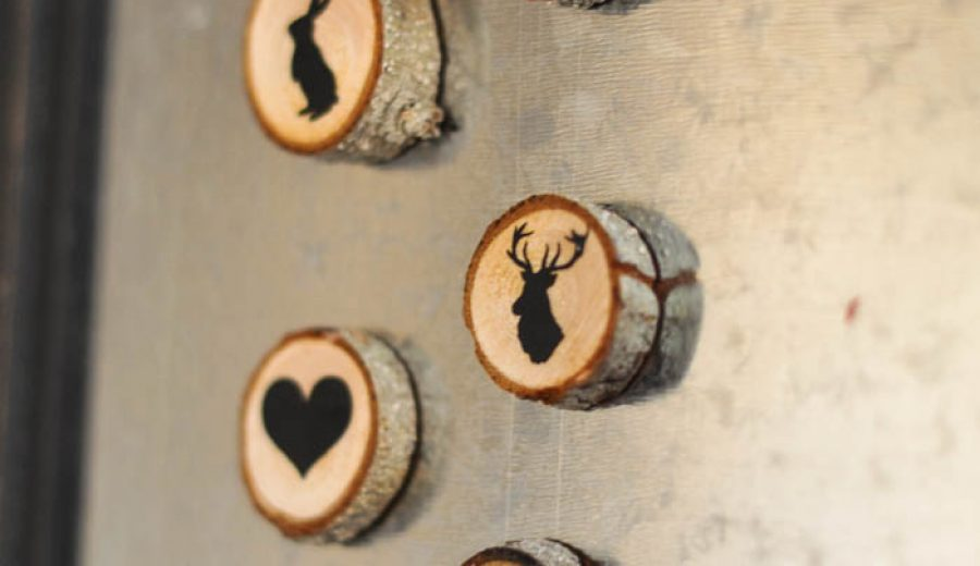 Wood Slice Magnets