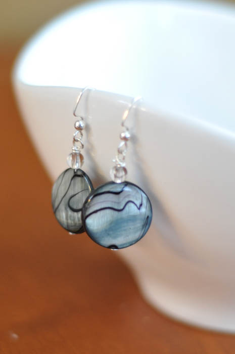 Blue Striped Earrings - Suburble.com (1 of 1)