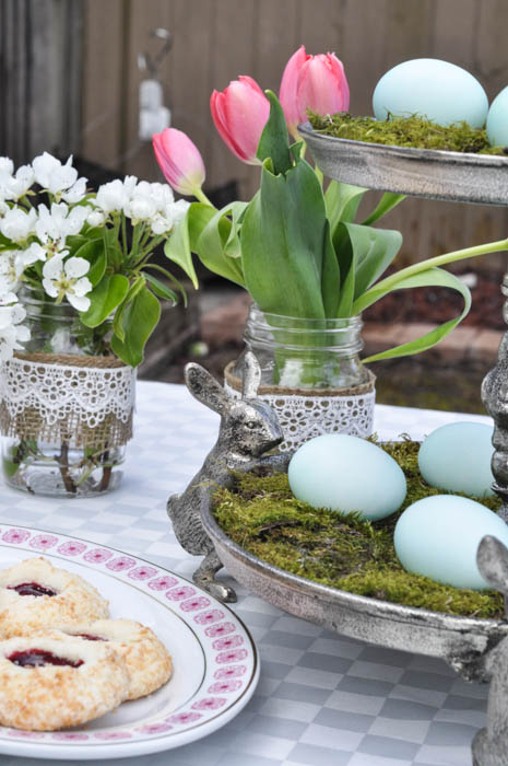 Easter Tea Party - Moss and Egg Centerpiece - Suburble.com (1 of 1)