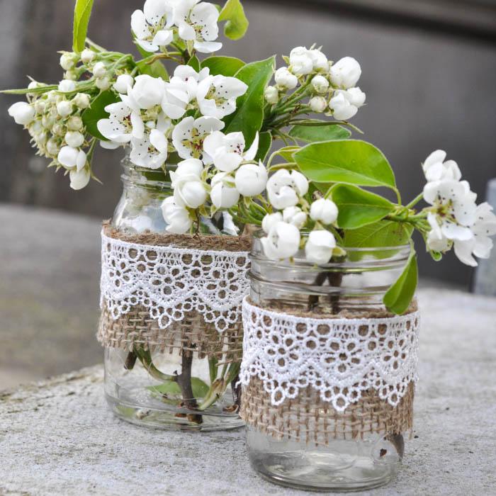 Rustic Mason Jar Vases Suburble