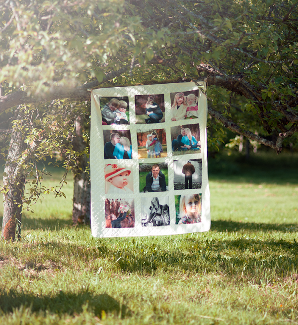 A photo quilt becomes a collage at a reception - Suburble.com