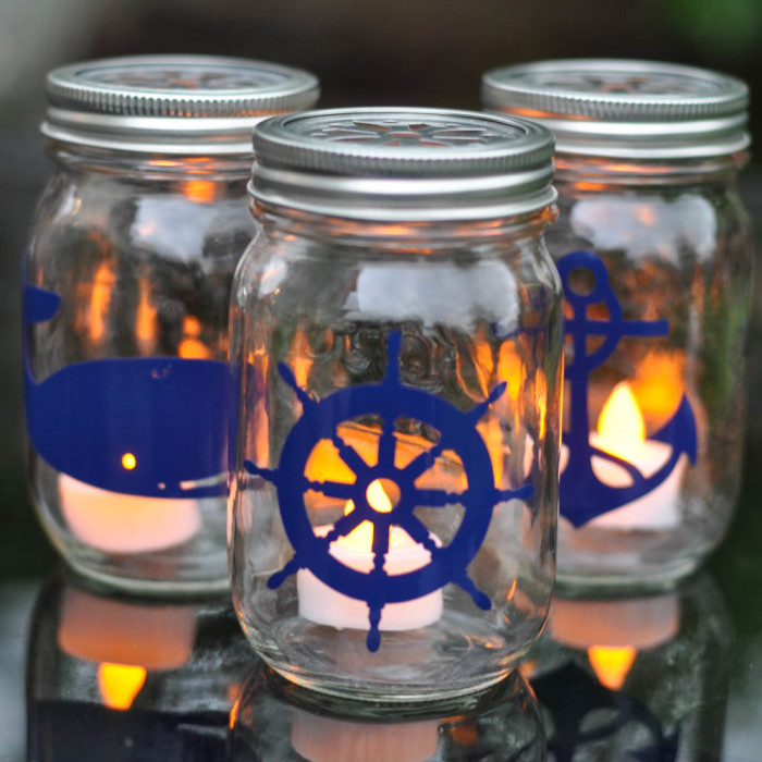 Nautical Mason Jar Lantern Tutorial - Suburble.com (1 of 1)