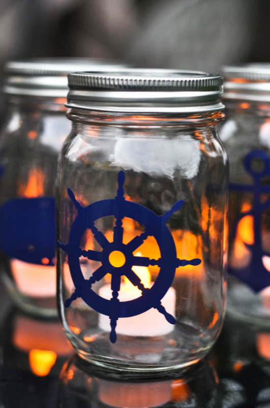 Nautical Mason Jar Lantern Tutorial - the wheel -  Suburble.com (1 of 1)