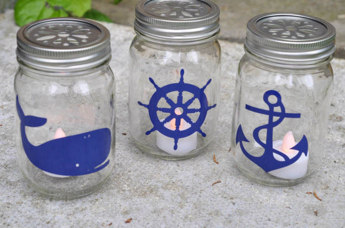 Nautical Mason Jar Lantern Tutorial - whale, wheel and anchor -  Suburble.com (1 of 1)