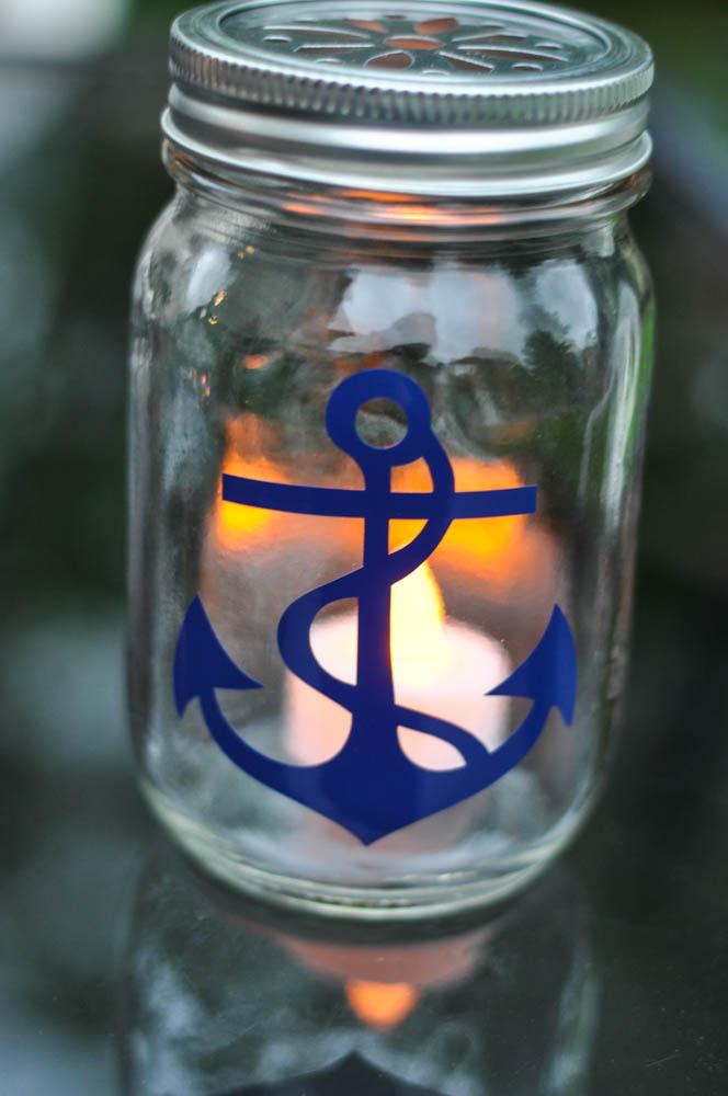 Nautical Mason Jar Lanterns Suburble