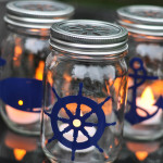 Nautical Mason Jar Lanterns