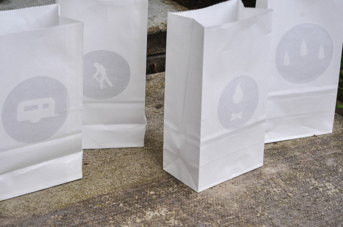 Camping Cutouts in Paper Bags - Suburble.com (1 of 1)