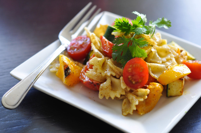 Grilled Vegetable Pasta Salad with Curried Dressing - Suburble.com (1 of 1)