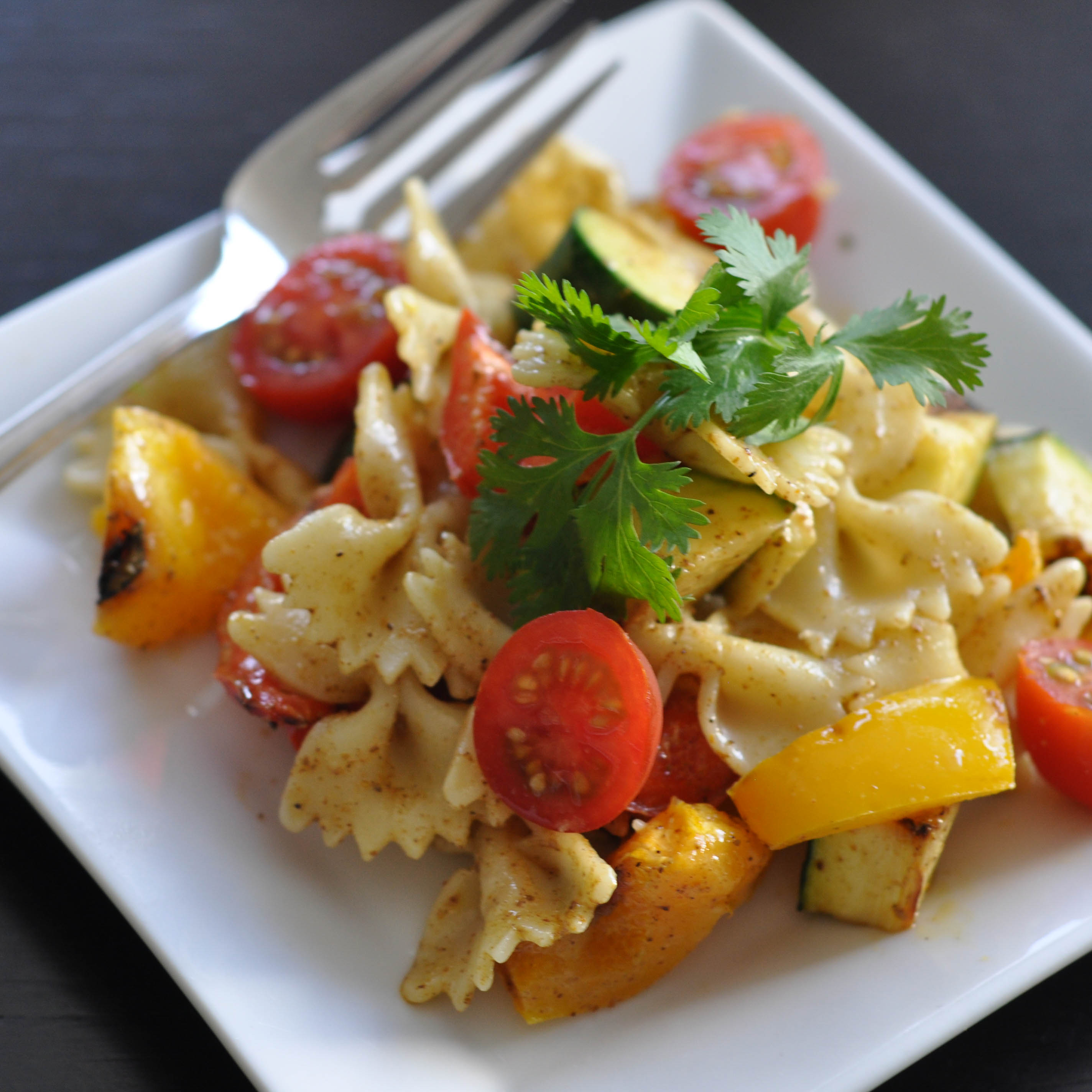 Grilled Vegetable Pasta Salad with Sweet Curried Dressing - Suburble.com (1 of 1)