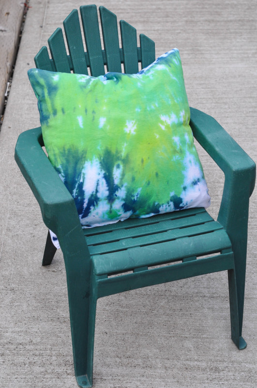 Tie-Dye Green Pillow - Suburble.com (1 of 1)