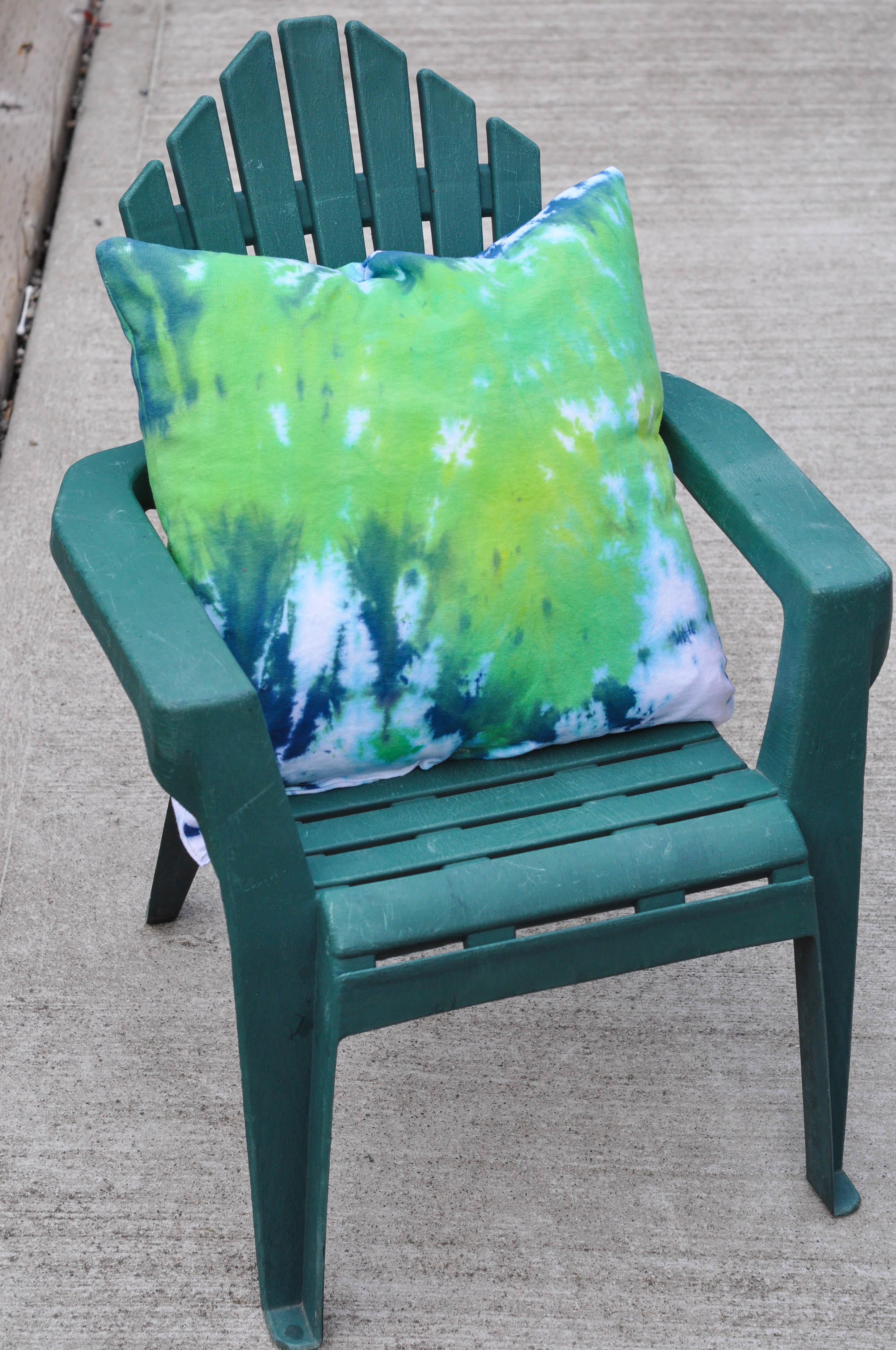 Lovely Tie Dye Green Pillow Suburble of