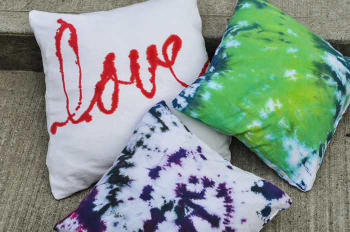 Tie-Dye T-shirt Pillow Tutorial  - Suburble.com (1 of 1)