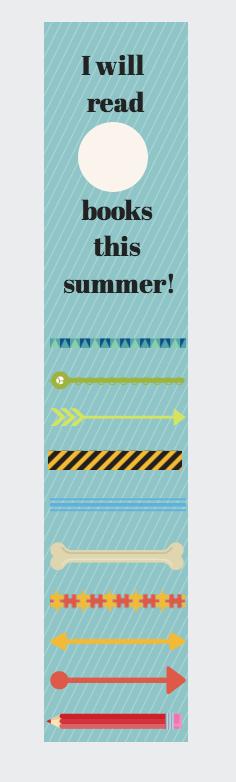Free Printable Summer Reading Bookmark Goal Chart - Suburble.com