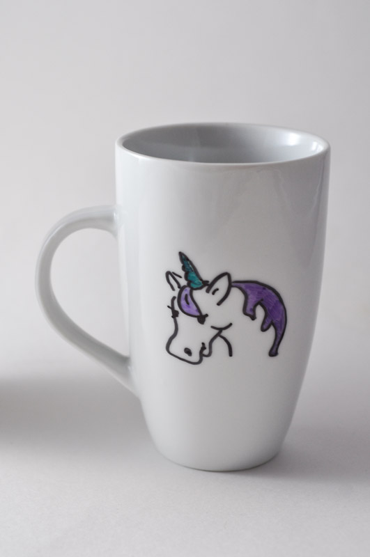 Unicorn Sharpie Mug Tutorial  - Suburble.com-1