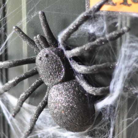 Krazy Glue and Halloween Decor - The Spider Web Door Decor - Suburble.com-1