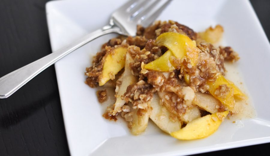 Peach and Apple Crisp – Because the weather says so…