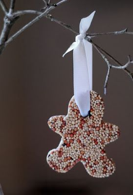 Bird Feeder Gingerbread Man