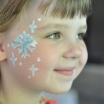 Snowflake Face Paint (For your little Elsa)