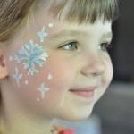 Snowflake Face Paint (For your little Elsa)