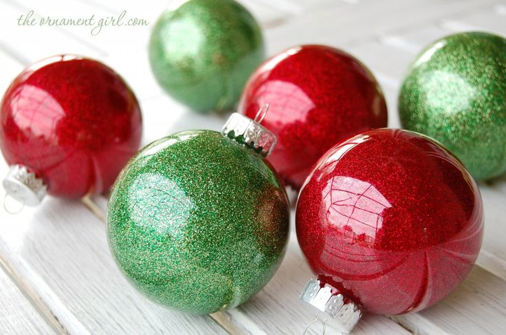 this glitter ornament tutorial written by the ornament girl shows how to make these for your own tree - Handmade Christmas Ornaments
