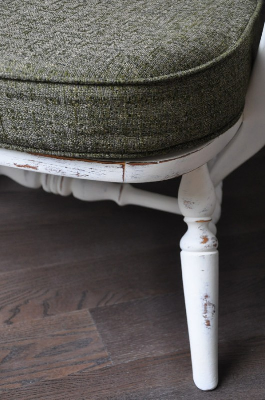 Little Chair - With Distressed French Vanilla Chalk Paint - Country Chic Paint -  Suburble.com-1