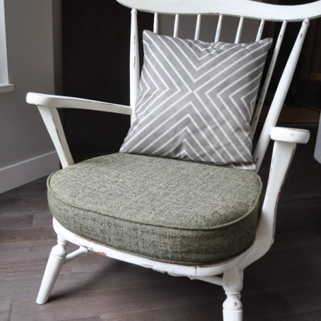 Little Chair - With Distressed French Vanilla Chalk Paint -  Suburble.com-1