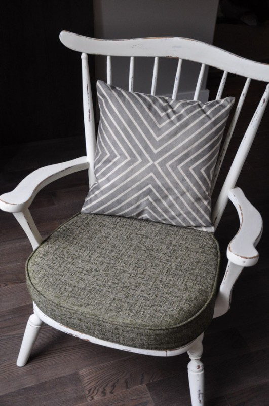 Little Chair - With Distressed French Vanilla Paint -  Suburble.com-1