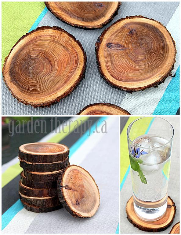 Recycling Tree Branches Into Coasters Via Garden Therapy