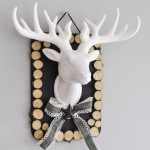 Wood Slices and a Stag – Christmas Wall Decor