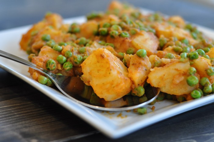 Curried Peas and Potatoes-1