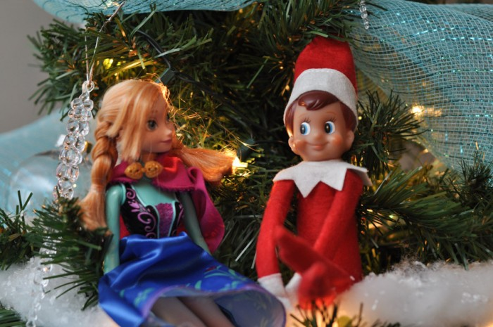 Elf on the Shelf and Anna-1