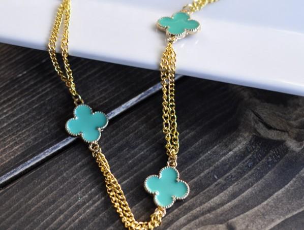 Gold Clover Necklace- Suburble.com-1