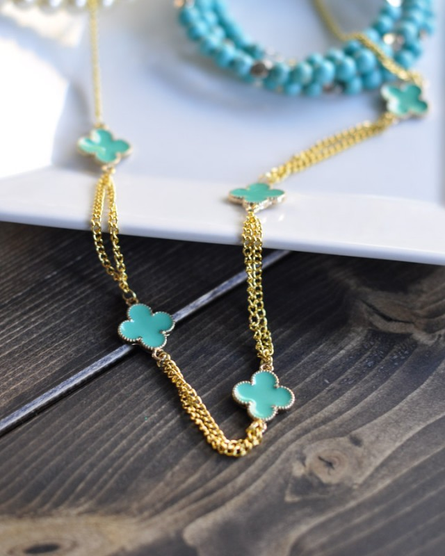 Gold Clover Necklace Tutorial - Suburble.com-1