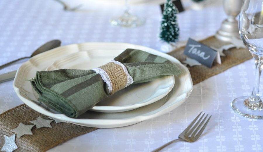 Set your Holiday Table with Ribbon