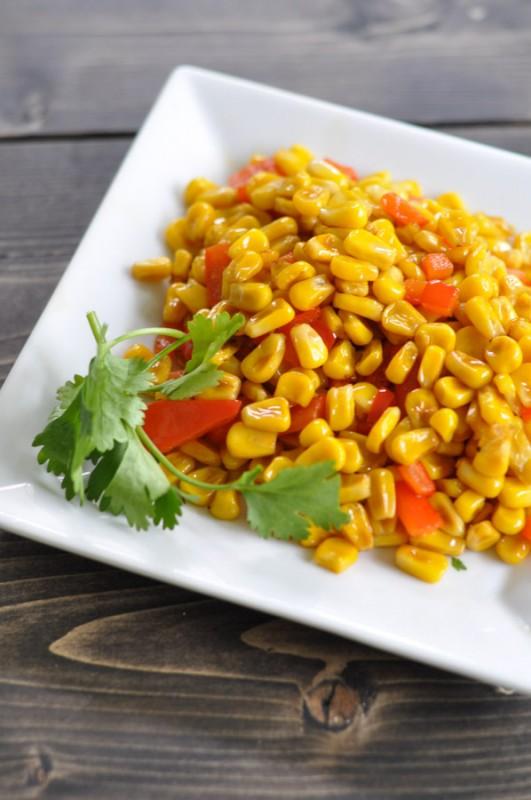 Stir Fried Corn Recipe - Suburble.com-1