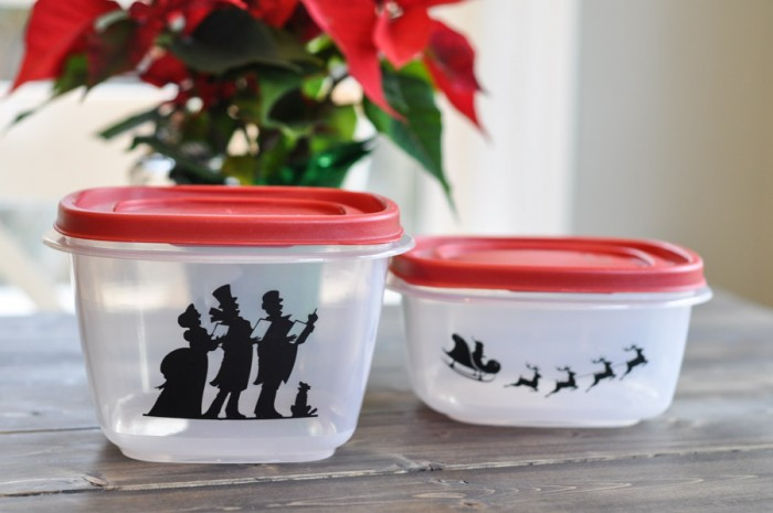 Adding Festive Flair to Rubbermaid Containers-3