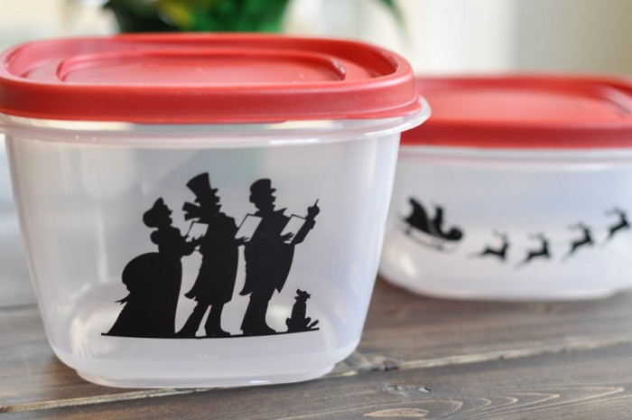 Adding Festive Flair to Rubbermaid Containers-4
