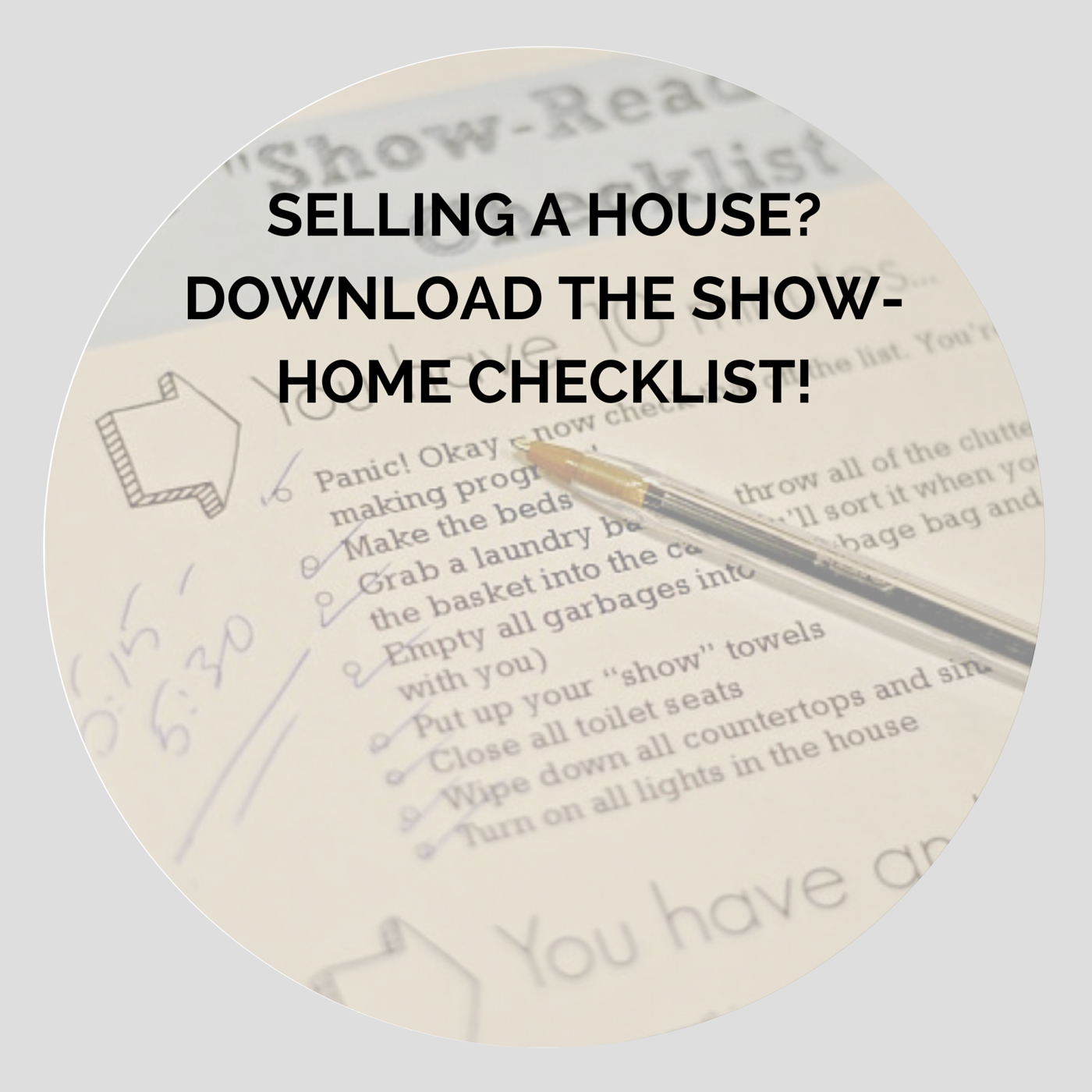 Show Home Checklist