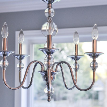 Kitchen Nook - Chrome and Crystal Cool Chandelier-1