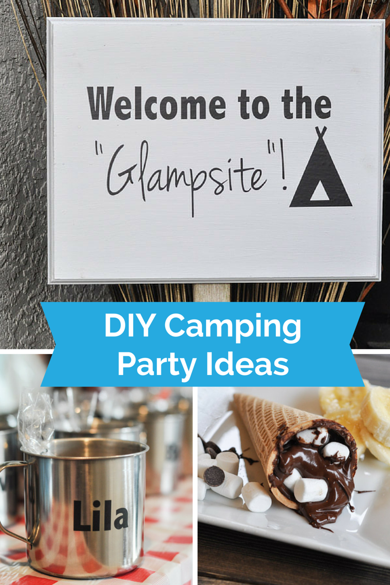 Glamping at home a camping themed birthday party suburble for Glamping ideas diy