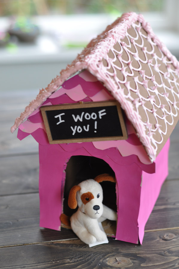 I Woof You A Dog House CardHolder for Valentines Day  Suburble