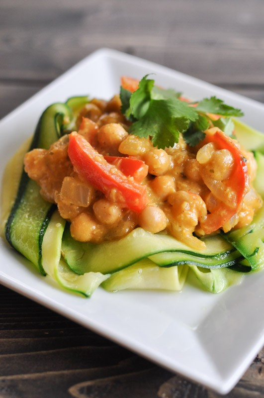 Chickpea Korma with Zucchini Noodles - Gluten Free - Suburble