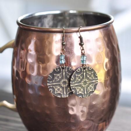 Filligree Embossed Earrings with Sizzix Vintaj -12