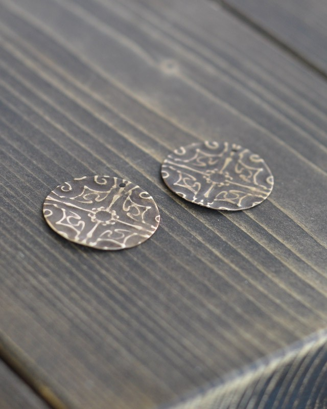 Filligree Embossed Earrings with Sizzix Vintaj -5